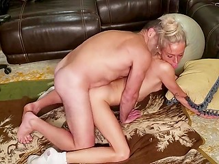 Physical activity in the form of fuck is much better for the Italian blonde in white socks than yoga