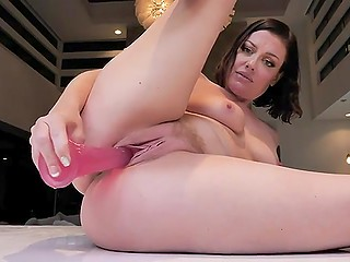 Attractive MILF shows how to act when there is no cock and excited vagina needs it so bad