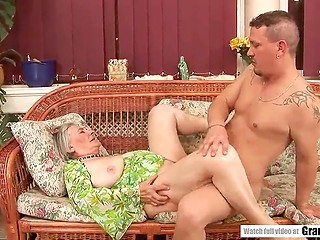 Rich housewife satisfies Alphones' financial needs and he fucks the old woman so well that she is in seventh heaven