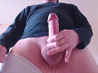 Solo man does nothing but masturbate and cum in front of his camera close-up all day long
