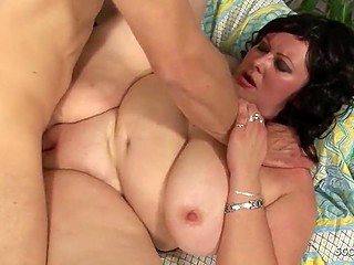 It's time for skinny guy to know the brunette BBW's love and get into her fat snatch