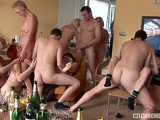 French guys recruited local women of easy virtue and went to the rent apartment to hook up