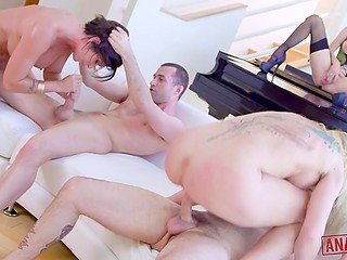 Dreams led sexaholics to company of three luxurious Swedish easy women who got fucked by everyone