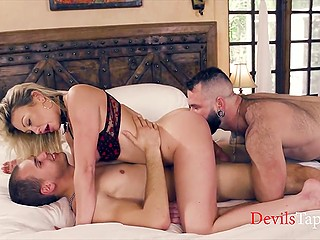 Bisexual husband is pleased to meet Adira Allure's lover because he has nothing against a threesome