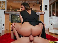 Private detective seduced by Latina MILF Katana Kombat who adores smoking cigars and riding cocks
