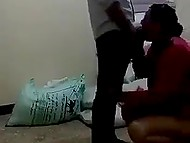 Arab is bored on watch so he turns on smartphone camera and films colleague giving him a blowjob