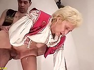 Granny gave up sucking cigars but not penises and especially she loves to have her hairy pussy fucked